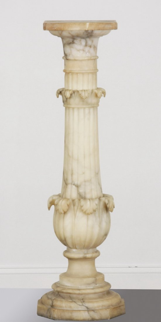 3: Late 19th c. carved marble pedestal