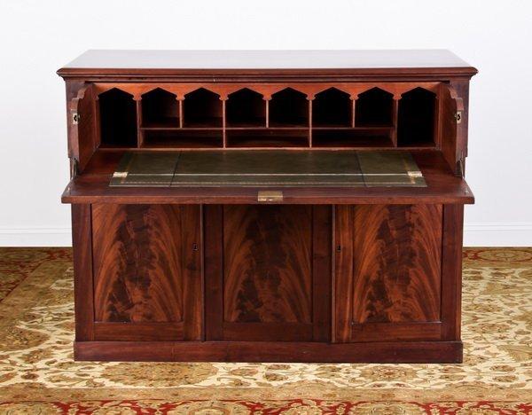 15: Late 19th c. English mahogany butler's desk