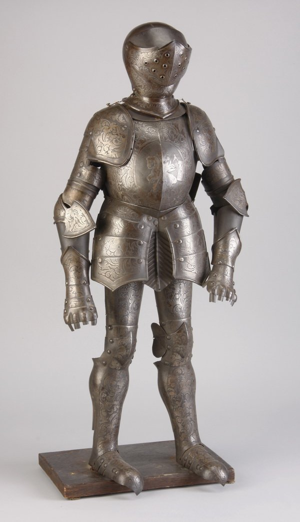 23: 19th c. Continental miniature suit of armor