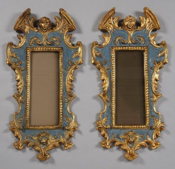 14: (2) 19th c. Venetian gilt wood frames