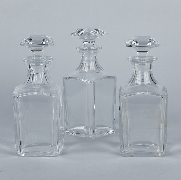 16: (3) Baccarat crystal decanters, marked