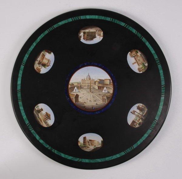 "108: 19th c. micro mosaic table, 20"" diam."