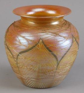 20th C. Durand Iridescent Art Glass Vase
