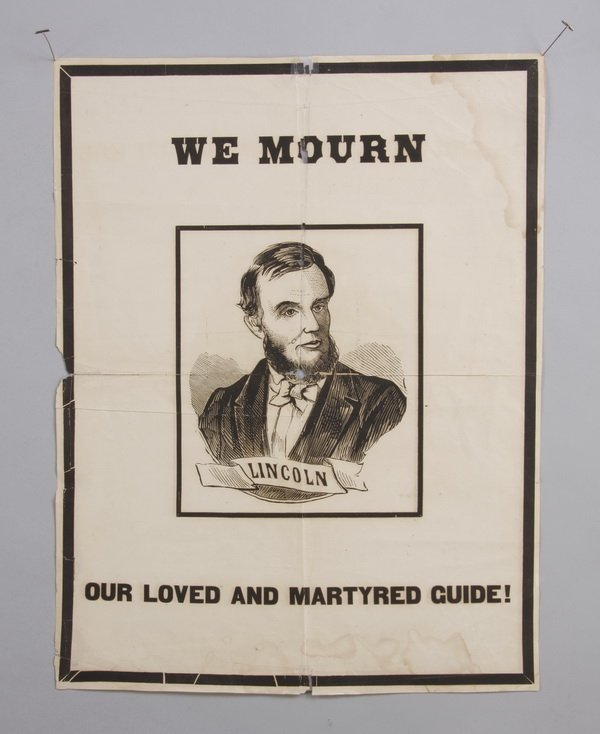 Original, unframed 19th c. poster of Lincoln