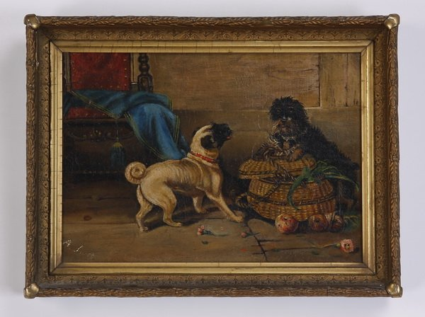 19th c. Continental oil on canvas, signed