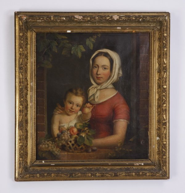 Late 18th c. Austrian oil on canvas, signed