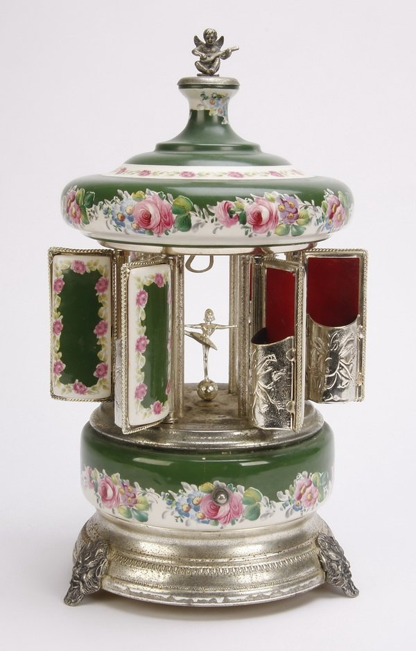 Swiss cigarette carousel & music box by Reuge