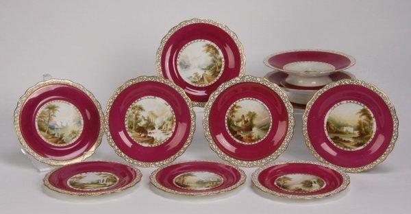(10) Pc. porcelain dessert service