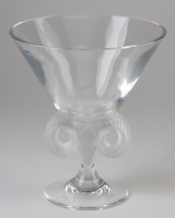 20th c. Lalique footed compote