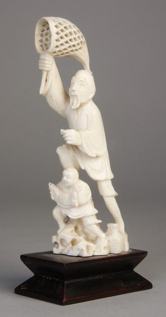 Qing Dynasty Chinese ivory figural grouping