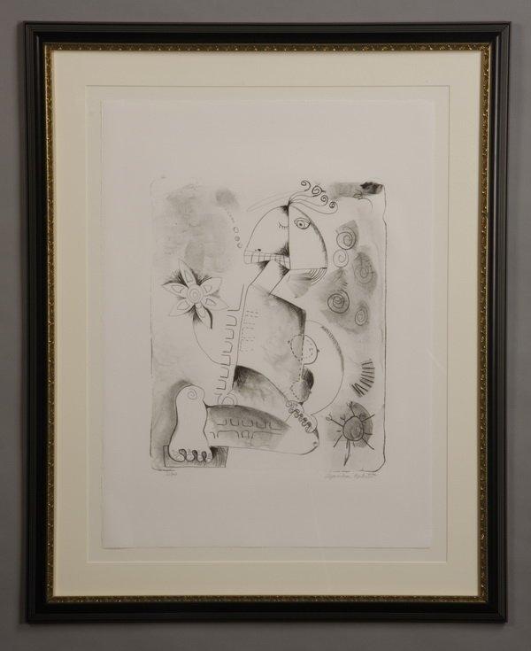 Alexandra Nichita lithograph, signed