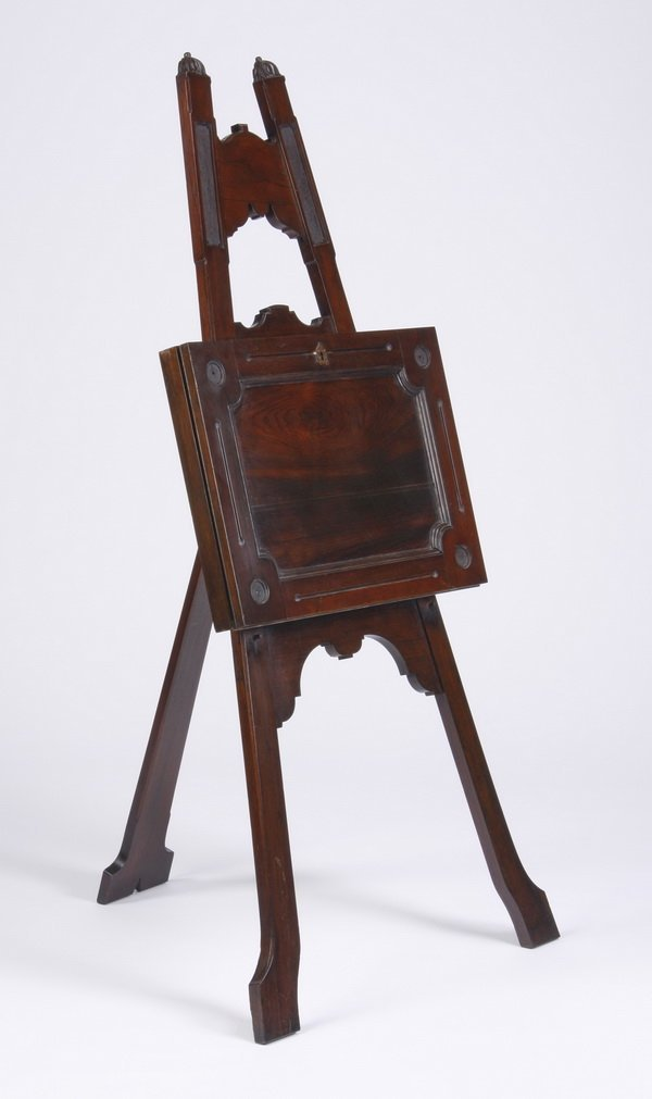 Carved mahogany artist's easel