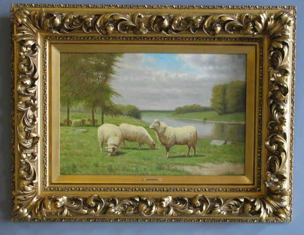 19th c. oil on canvas, signed Loveridge