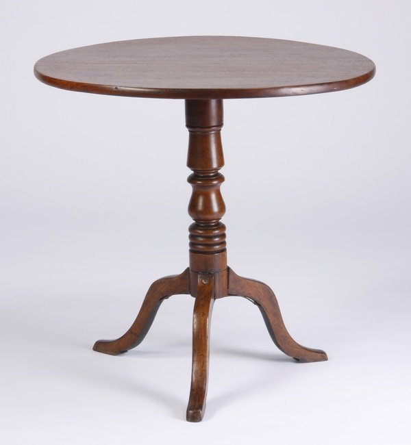 Late 19th c. mahogany tilt top table