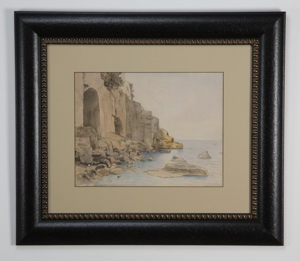 19th c. pen and ink, signed Haseltine