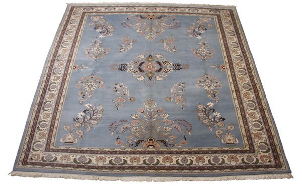 """Oversized handknotted wool rug, 15' 2""""l"""