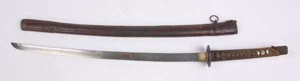 Japanese Samurai sword and scabbard
