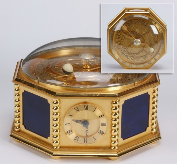 20th c. French horizontal table clock