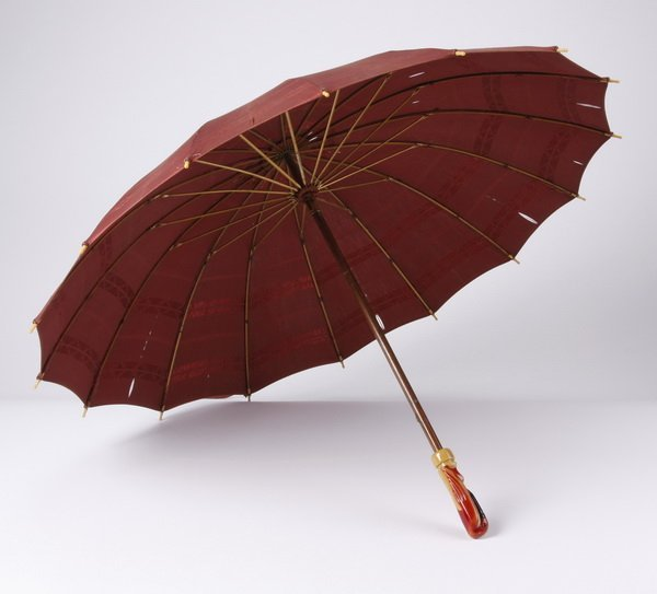 Early 20th c. silk and Bakelite parasol & pin