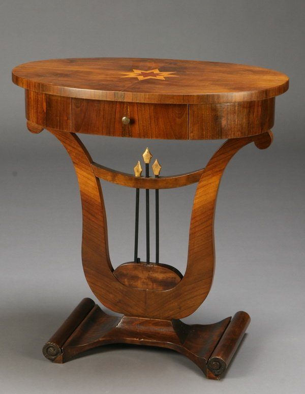 19th c. oval rosewood table