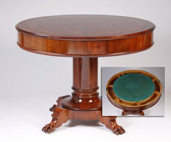 English Regency style mahogany game table