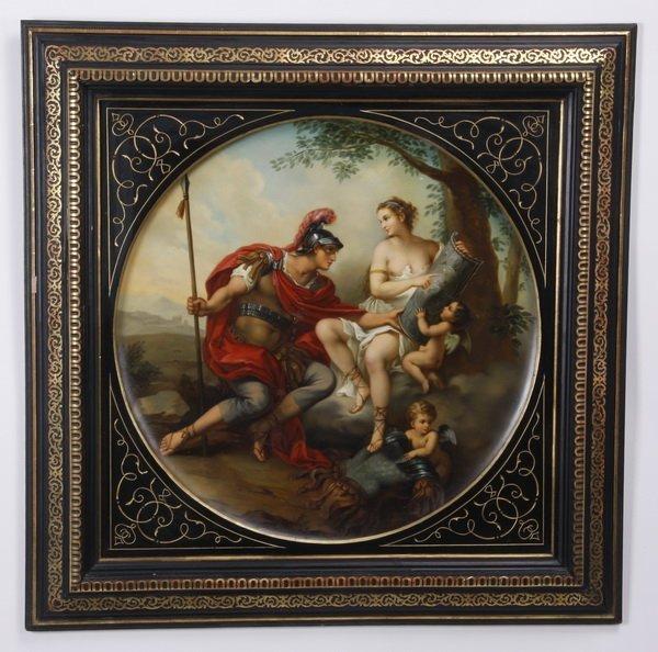 19th c. Royal Vienna framed porcelain plaque