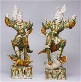 2 Original Tang Dynasty Lokapala figures
