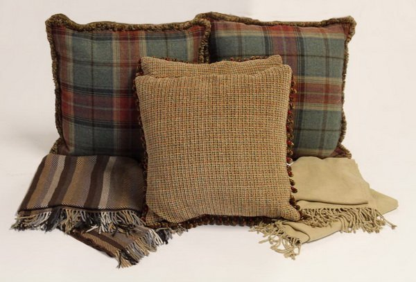 Custom pillows and throws