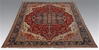 Early 20th c hand knotted Persian rug