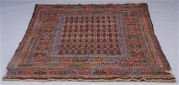 Early 20th c Soumak kilim wool rug
