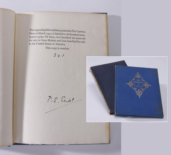 T. S. Eliot signed first edition book