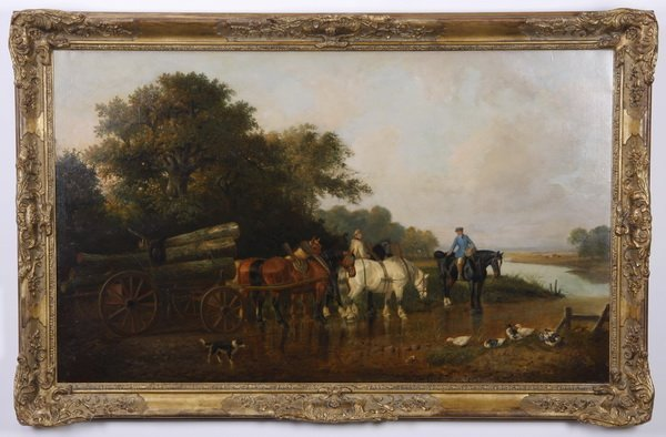 19th c. British oil on canvas, signed