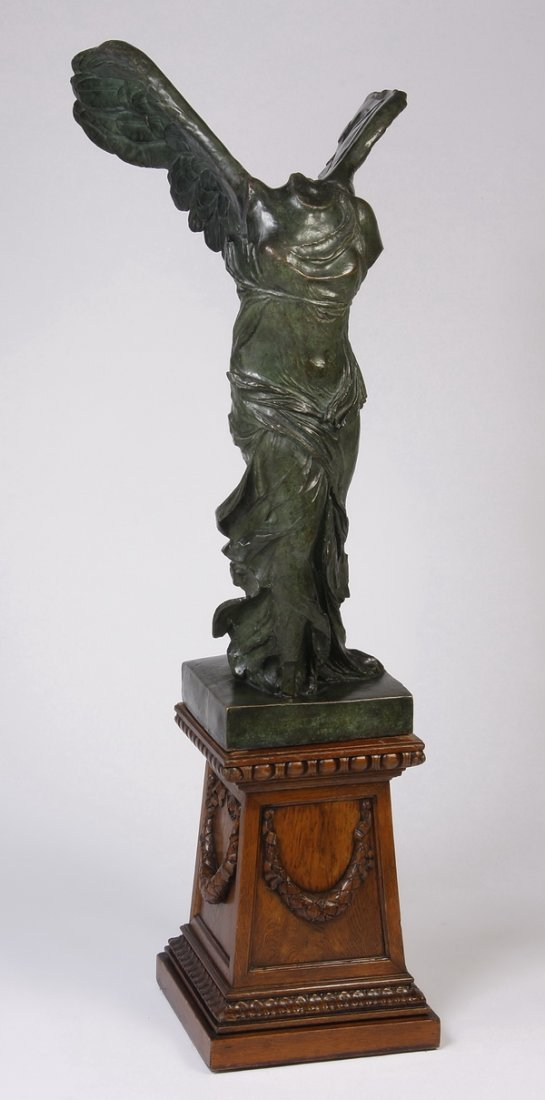 French bronze sculpture of Winged Victory