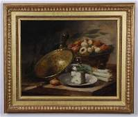 19th c. French oil on canvas still life