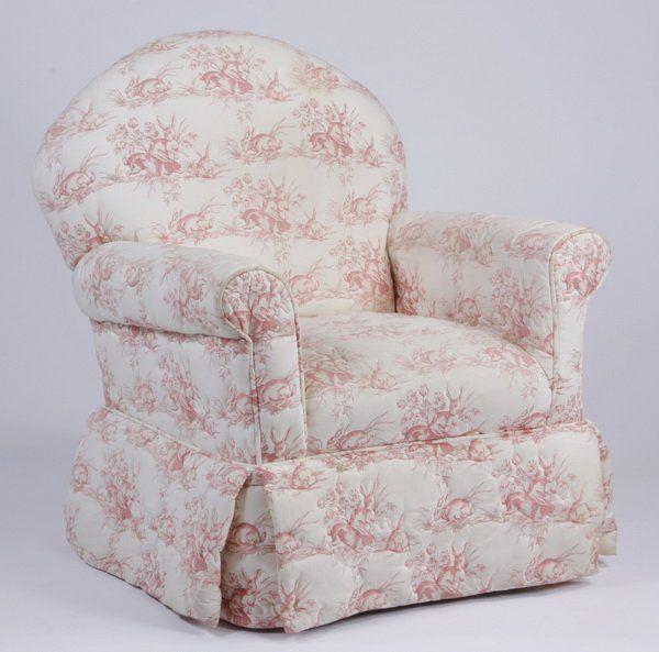 Custom designed swivel rocking armchair