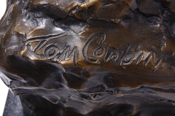 (2) Lifesize Tom Corbin bronze sculptures - 10