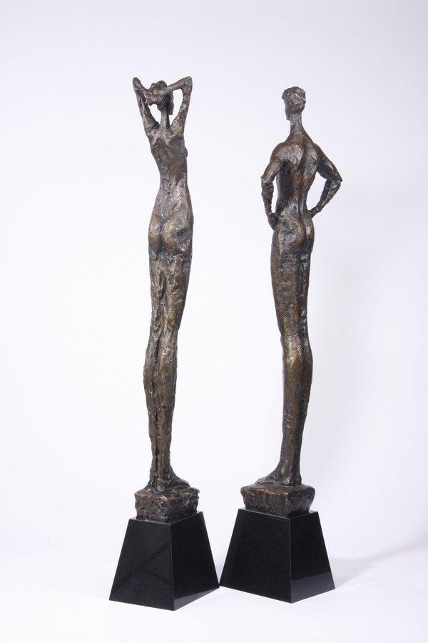 (2) Lifesize Tom Corbin bronze sculptures - 2