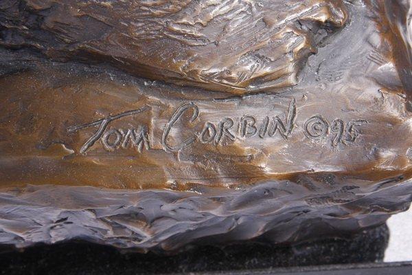 (2) Lifesize Tom Corbin bronze sculptures - 9