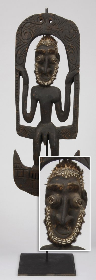 "55""h basket hook, Papua New Guinea"