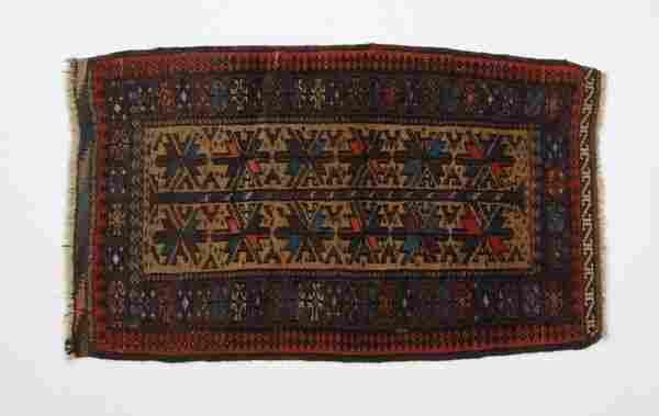 (2) Mid 20th c. Persian prayer rugs