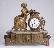 Late 19th c Louis XVI style mantel clock
