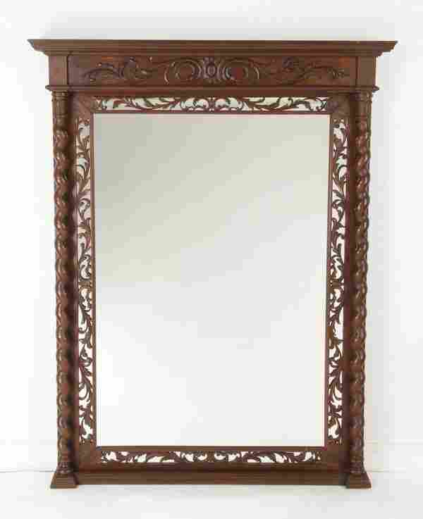 """78""""h Carved Italian mirror"""