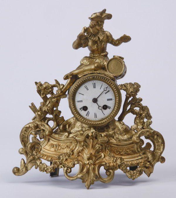 19th c. Louis XVI style figural clock