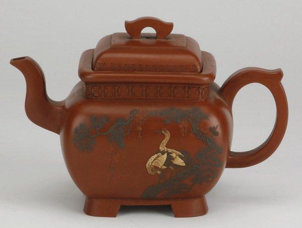 Late 19th c. Chinese Yixing stoneware teapot