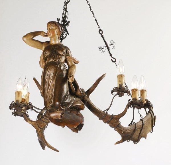 19th c. German lüsterweibchen chandelier