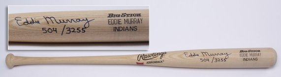 Eddie Murray autographed baseball bat