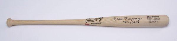 Eddie Murray autographed baseball bat - 2