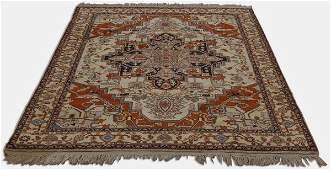 20th c hand woven IndoPersian wool rug