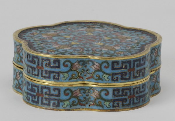 19th c. cloisonn box, Qianlong mark