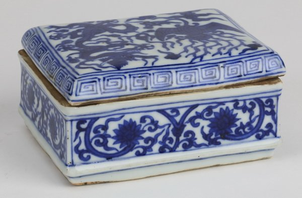 19th c. Ming-style lidded box, Xuande mark